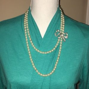 Vintage double stranded necklace
